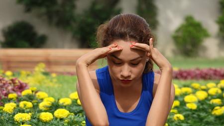 A Stressed Female Stok Fotoğraf