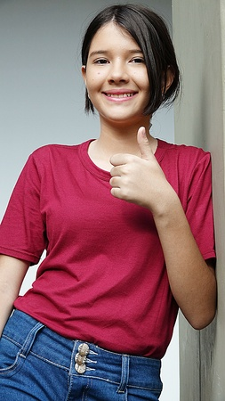 Female With Thumbs Up