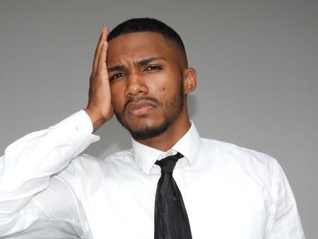 Worried Black Male Фото со стока