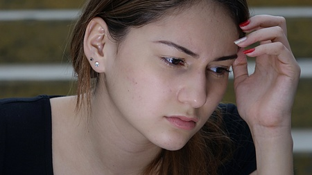 Sad Beautiful Girl 免版税图像