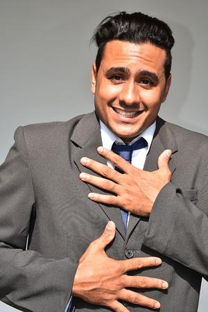 Hopeful Business Man Stock fotó