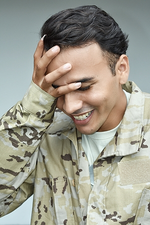 Ashamed Army Male Soldier
