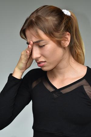 Minority Girl With Headache