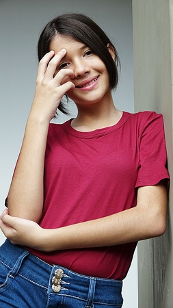 Female And Happiness Stock Photo