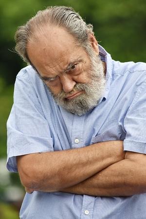 Stubborn Senior Male Grandfather