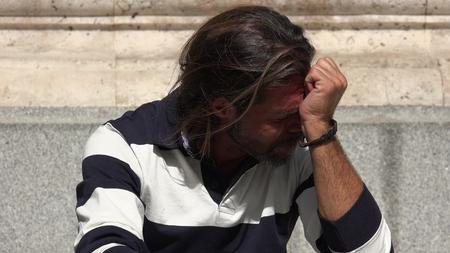 落ち込んだヨーロッパ人