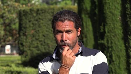 Caucasian Male Thinking Banco de Imagens - 93212097