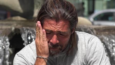 ストレス下の男性