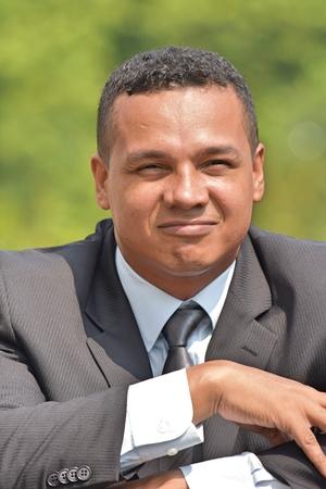 Contemplative Handsome Businessman Wearing Suit