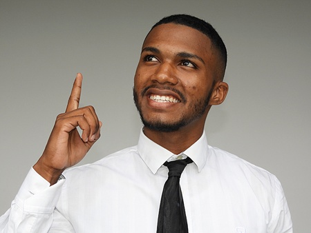 Creative Business Person Stock Photo