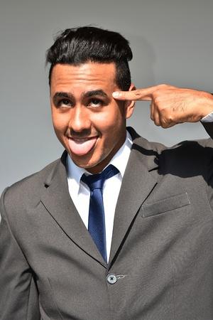 Goofy Business Man Stock Photo