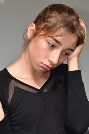 Confused Minority Female Imagens