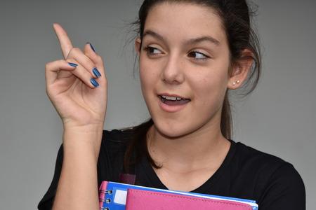 Diverse Female Student Having An Idea Фото со стока