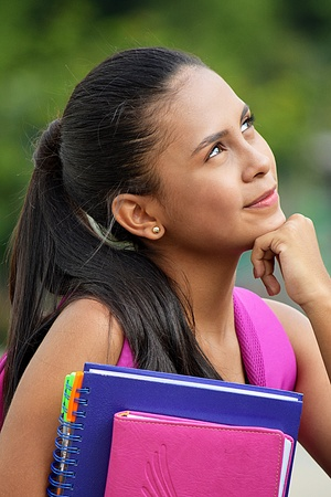 Beautiful School Girl Decision Making