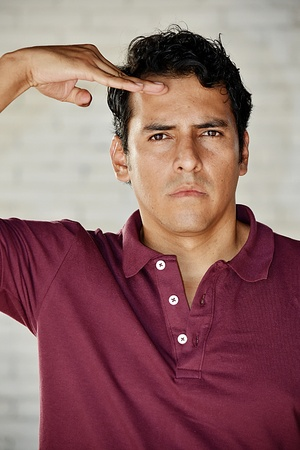 Handsome Male Saluting Banco de Imagens