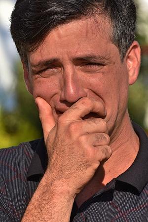 Anxious Male Man