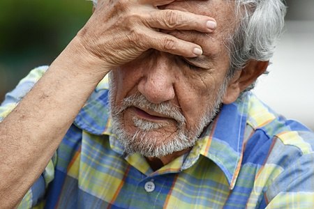 Dementie En Latino Persoon Stockfoto