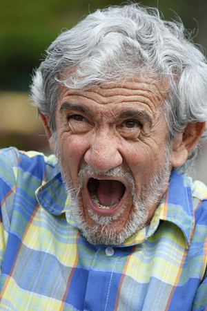 Overjoyed Senior Colombian Male Stock Photo
