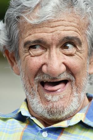 Goofy Senior Adult Male Stock Photo