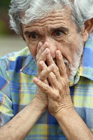 Retired Male And Hopelessness Banco de Imagens