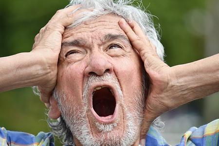 Anxious Latino Person Stock Photo