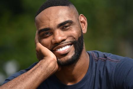 Handsome Unshaven Black Person