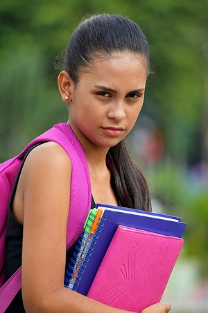 Serious School Girl