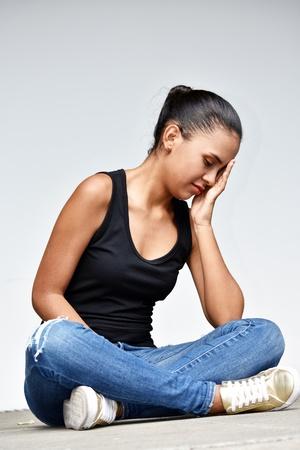 Depressed Youthful Girl Student