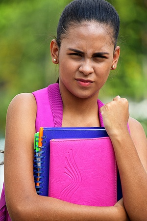 Angry Teen Female Student