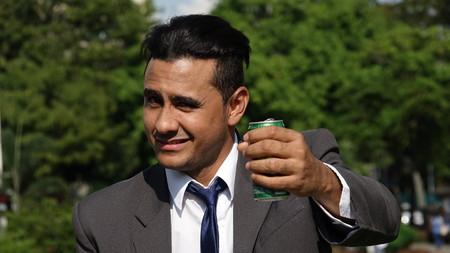 Business Man Beer Drinker