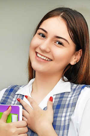 Pretty Cute Female Student Stock Photo