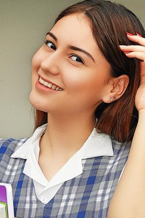 Cute Pretty Female Student 写真素材