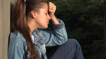 Angry Stressed And Distraught Teen Stock Photo