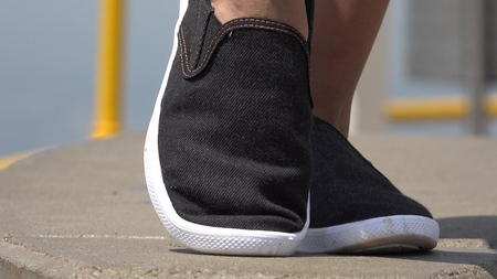 Female Feet And Shoes Zdjęcie Seryjne