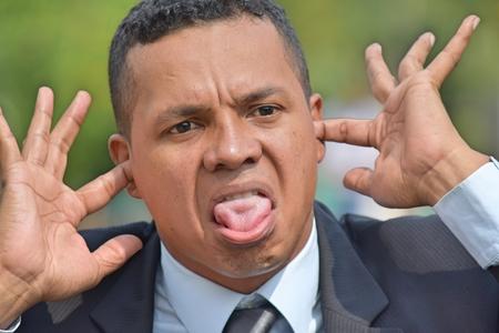 Insane Diverse Business Man Stock Photo