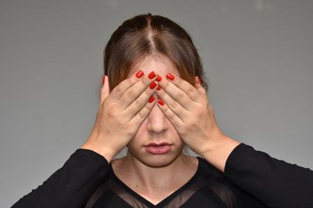 Ashamed Teenage Girl Stock Photo