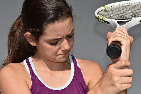 Teen Female Tennis Player Injury And Soreness