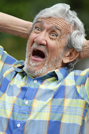 Dementia And Man Stock Photo