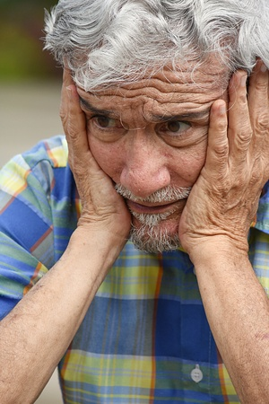 Colombian Adult Male And Dementia Stock Photo