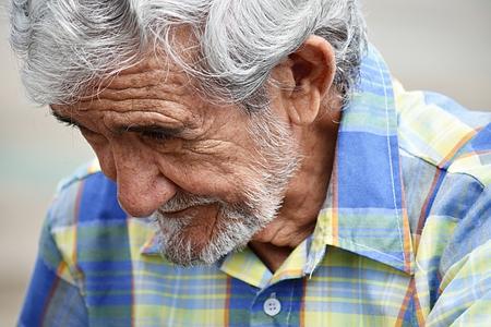 Depressed Senior Colombian Person