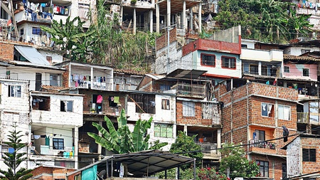 Houses Home And Colombian Barrio Stock Photo