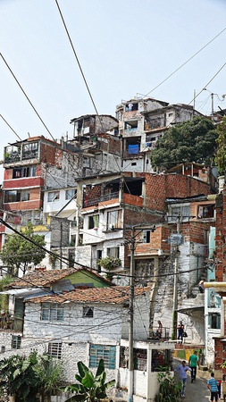 Homes In Colombian Barrio Stock Photo