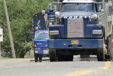 Vintage Truck Tractor Trailer Editorial