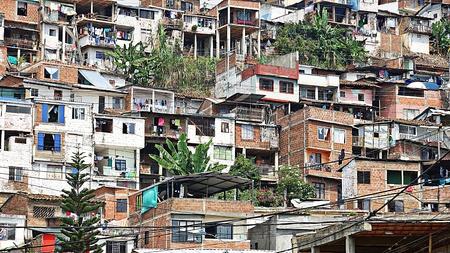 Developing Nation Impoverished Houses Reklamní fotografie