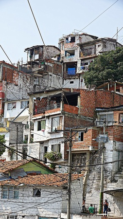Colombian Houses And Barrio
