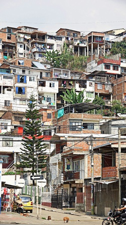 Houses In Colombian Barrio