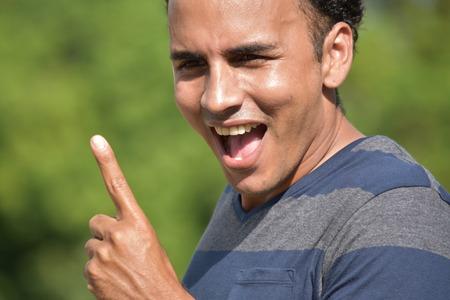 Hispanic Male Having An Idea Фото со стока