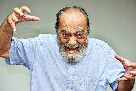 Intimidating Hispanic Male Grandpa Foto de archivo - 97265235