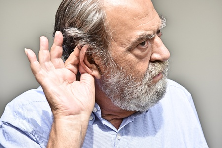 Bearded Old Male Hearing
