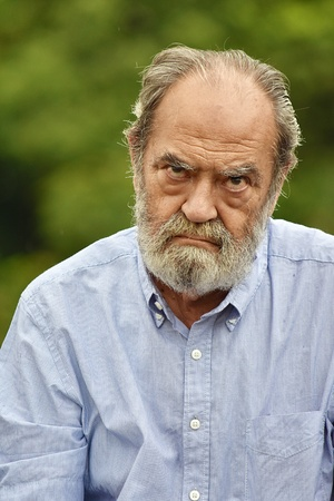 Unhappy Retired Male Stock fotó